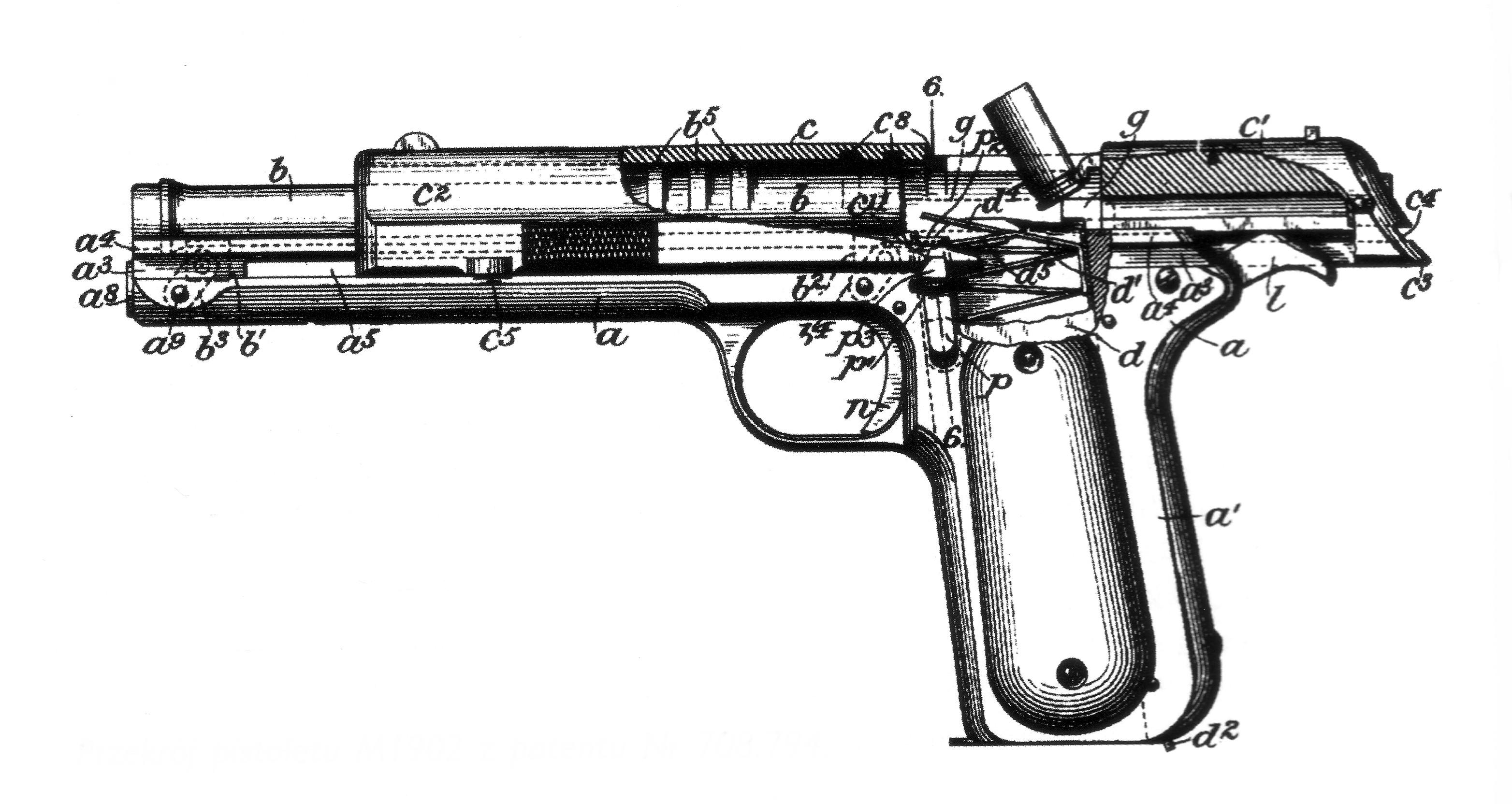 M1902 Colt Automatic Pistol in .38 Automatic (.38ACP