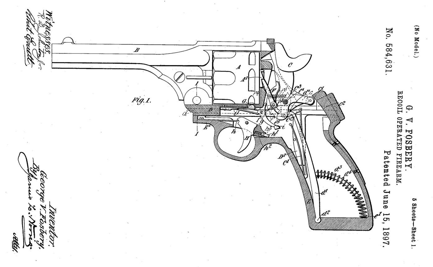 Webley Fosbery Model Automatic Revolver