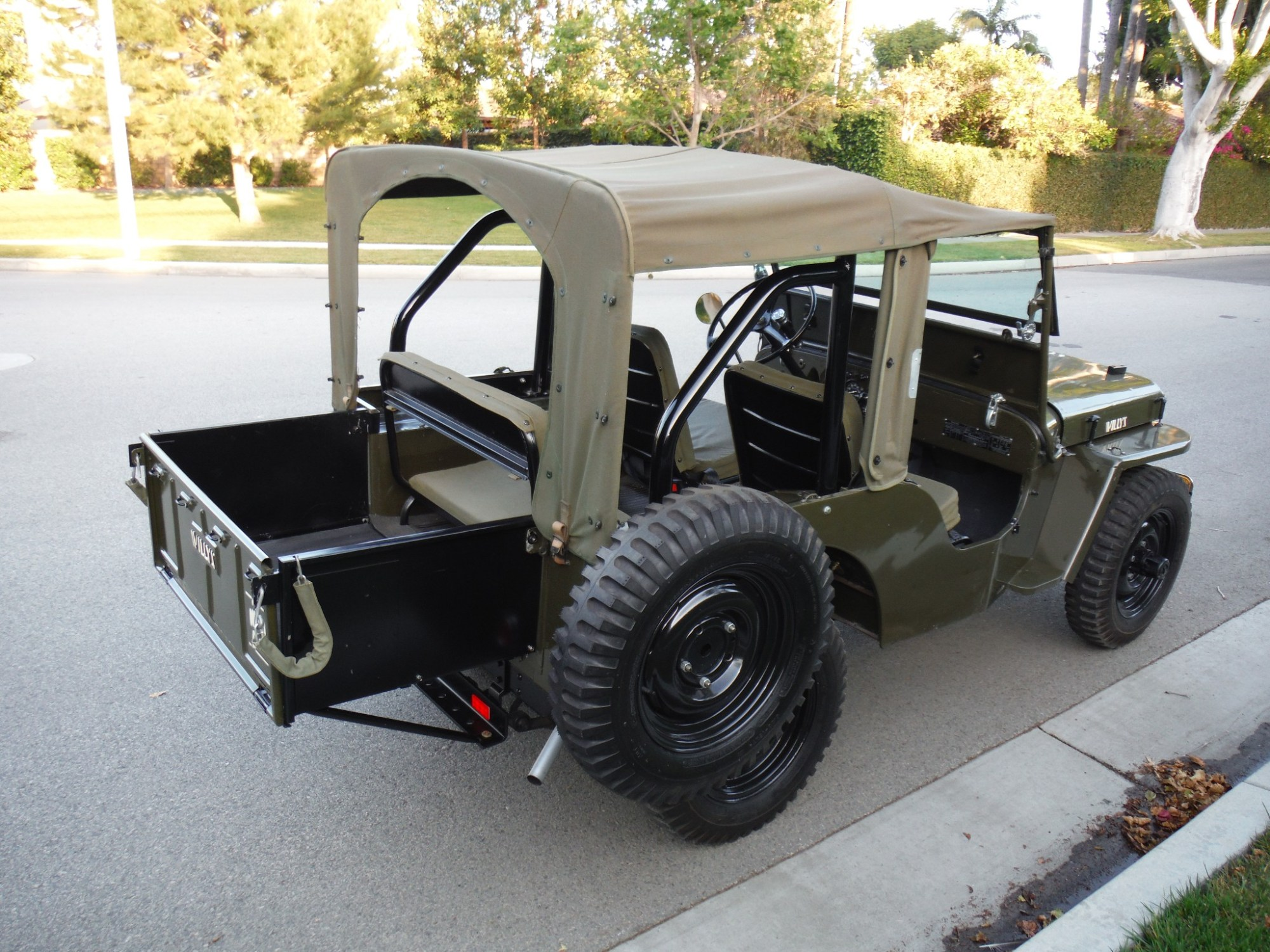 hight resolution of this 1947 willys jeep cj2a has an attachable tray that adds pick up style carrying