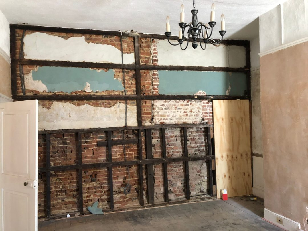 Plaster and Asbestos removed