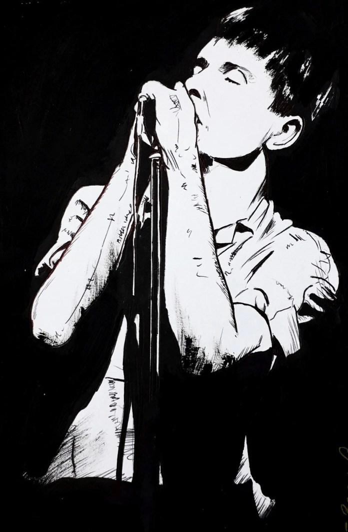 Ian Curtis by Brian Gorman