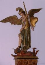 Parroquia San Pedro Statue - Melide
