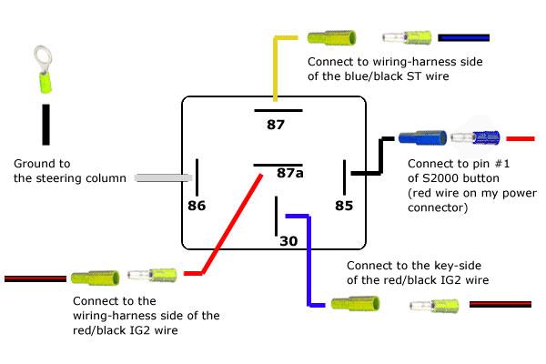 bosch relay wiring diagram skin assessment 34 40 great installation of revlimiter net s2000 starter button 90 97 version spdt