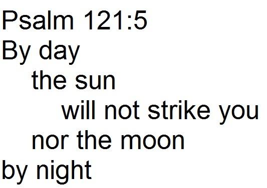 Rev. Justin Lee Marple, Niagara Presbyterian Church, image of chiasm of Psalm 121:5