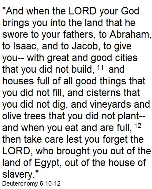 Deuteronomy 6:10-12