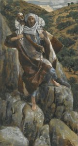 """James Tissot's """"The Good Shepherd"""" (Le bon pasteur) about the lost and found sheep"""