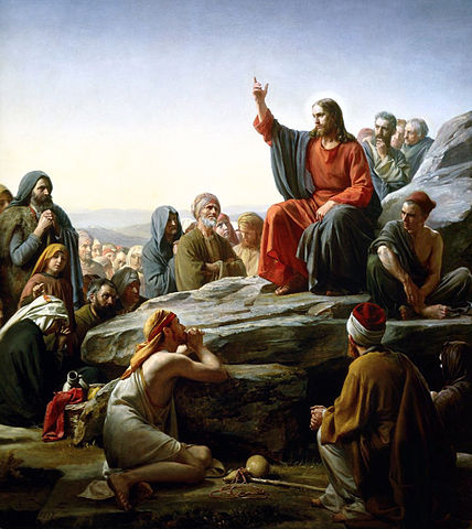 """This artwork of the Sermon on the Mount is for a sermon called """"Worst Week Ever"""""""