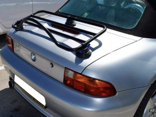 bmw z8 luggage rack revo rack fitted to silver z3
