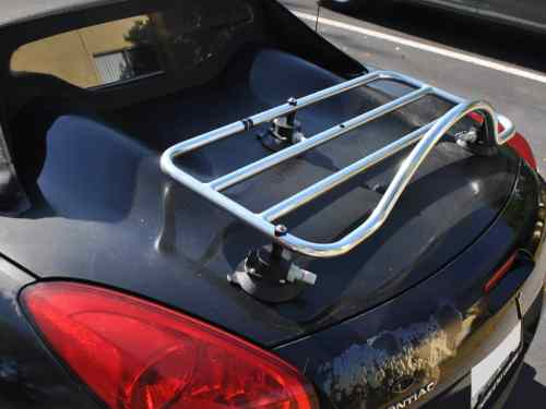 pontiac solstice stainless steel trunk deck rack