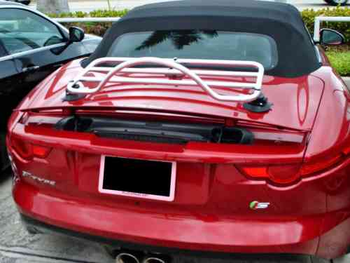 jaguar xk8 convertible luggage rack fitted to f type