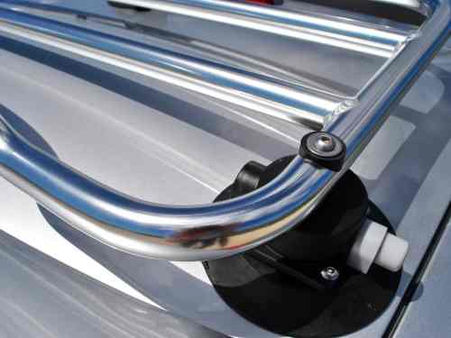stainless steel convertible luggage rack