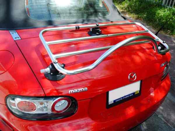 mazda mx5 nc porte-bagages acier inoxydable