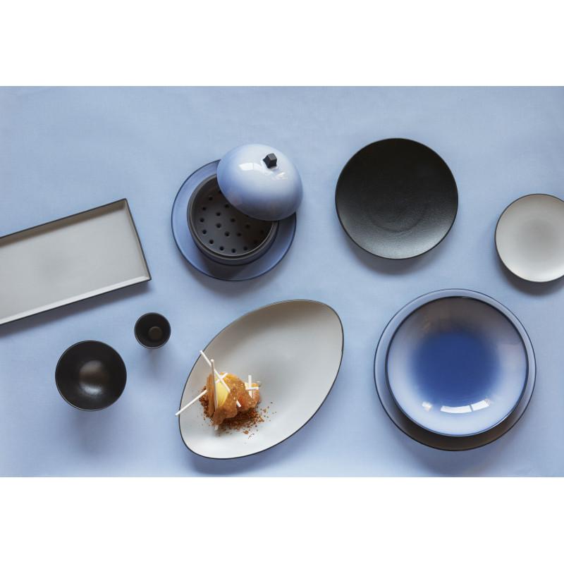 oval ceramic plate pepper