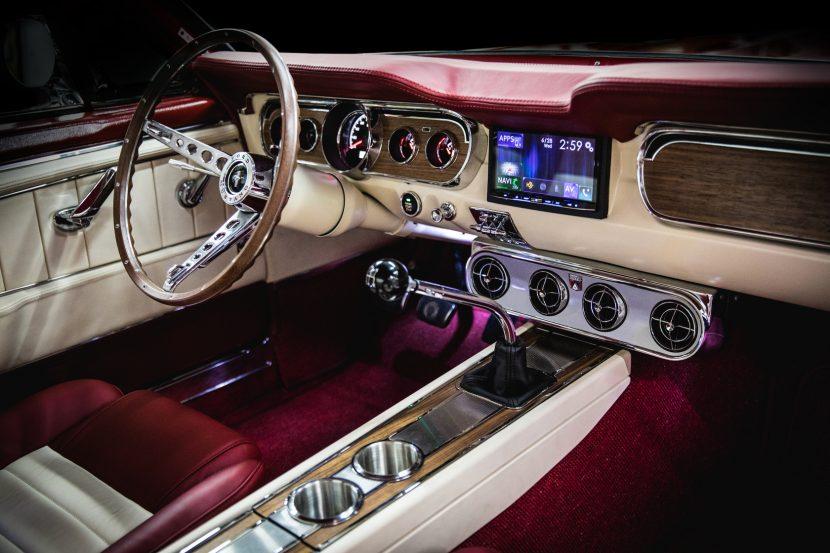 White 1965 Convertible Mustang