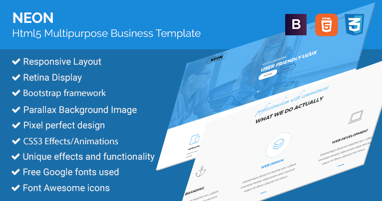 Neon html5 responsive business template free download neon html5 responsive business template free download friedricerecipe Choice Image