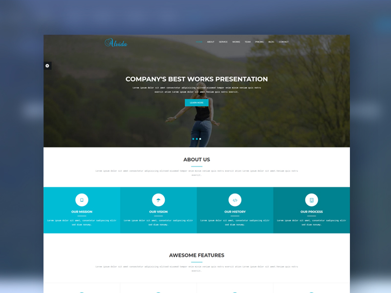 Alvida one page bootstrap business template download alvida one page bootstrap business template wajeb Images