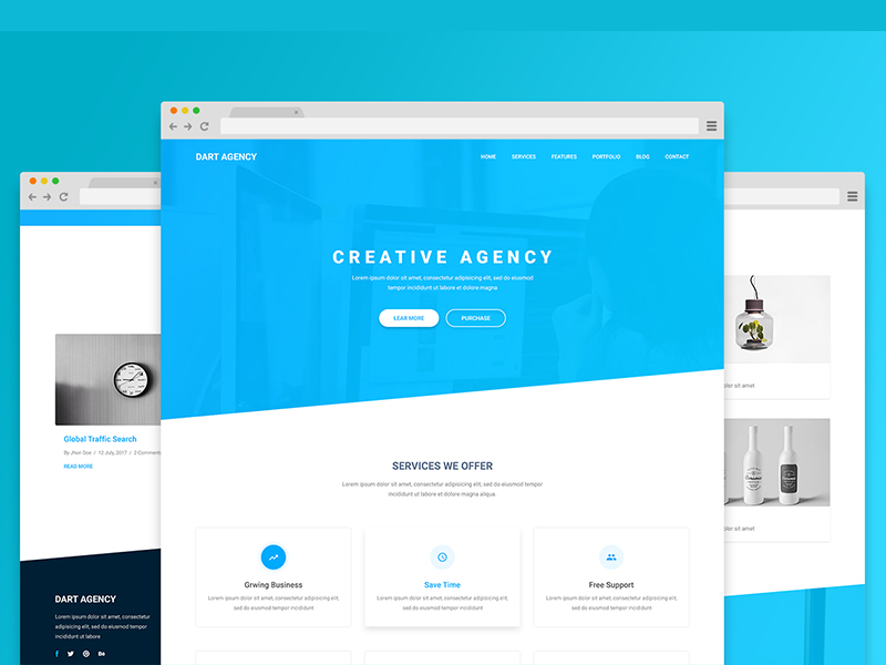 Dart free business corporate html5 template download dart free business corporate html5 template wajeb Image collections