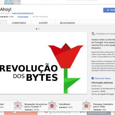 Ahoy! já está novamente disponível para Google Chrome
