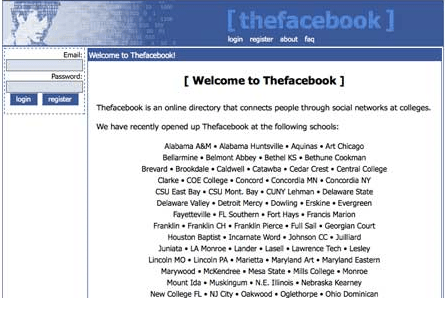 facebook at 2004