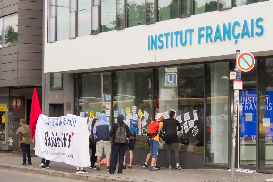 Solidarität mit den kämpfenden KollegInnen in Frankreich