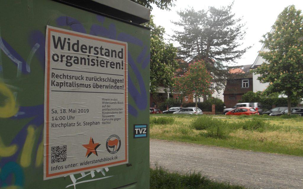 Anreise aus Stuttgart zur Antifa-Demo am 18. Mai in Karlsruhe