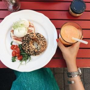 Fotoalbum: Budapest - Bagel Frühstück