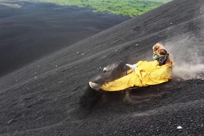 Volcano Boarding in Léon, Nicaragua