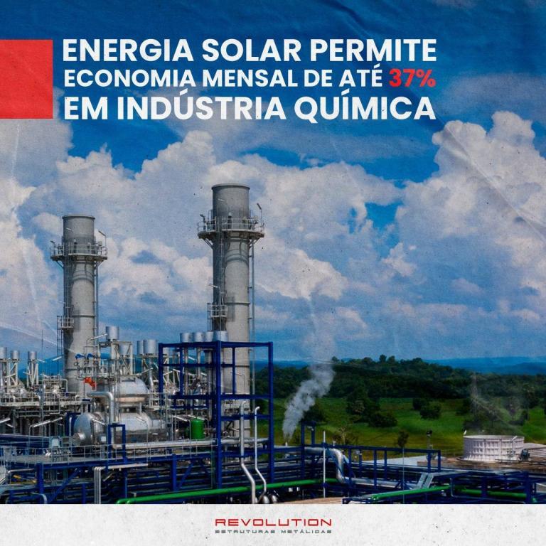 Energia solar permite economia mensal de até 37% em indústria química