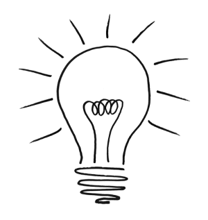 lightbulb drawing bulb clipart illustrated drawn hand thought technology background services managed clip