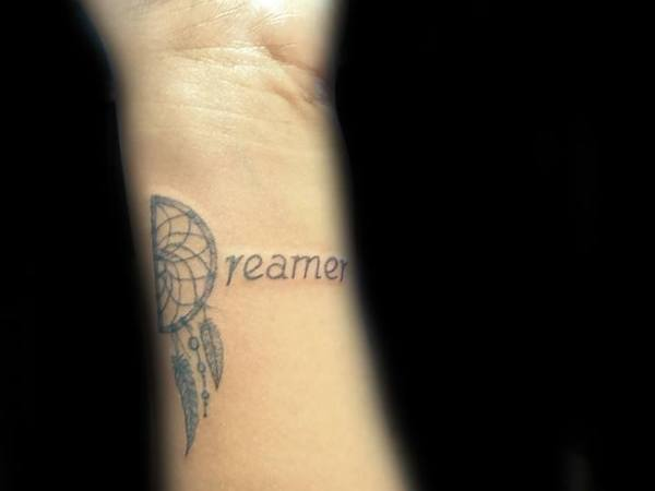 dreamcatcher black & grey tattoo
