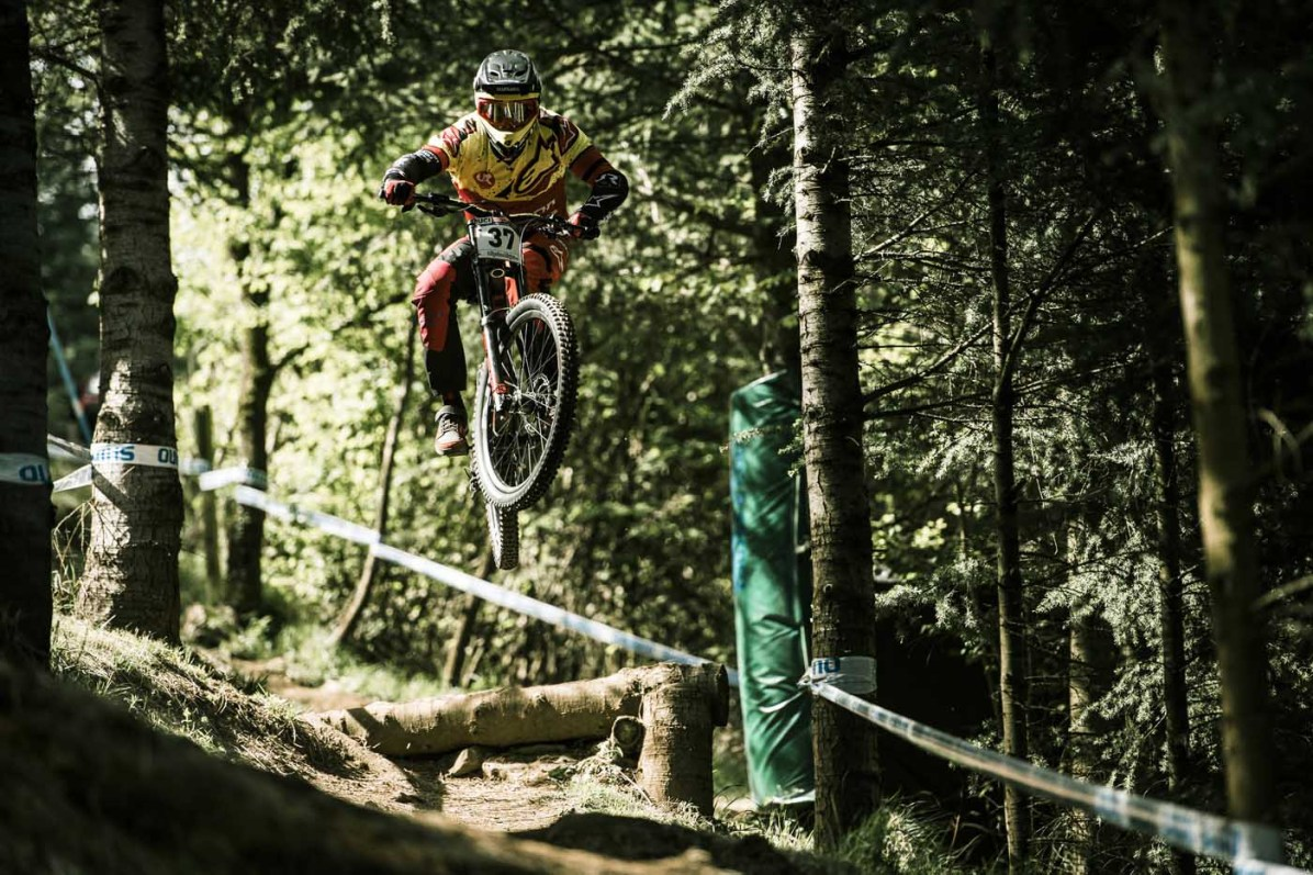 Alexandre Fayolle performs at UCI DH World Cup in Lourdes, France on April 30th, 2017 // Bartek Wolinski/Red Bull Content Pool // P-20170430-01257 // Usage for editorial use only // Please go to www.redbullcontentpool.com for further information. //