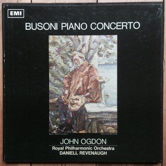ASD 2336-7 Busoni Piano Concerto / John Ogdon / Revenaugh S/C 2 LP box
