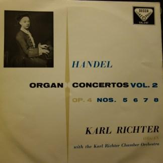 SXL 2187 Handel Organ Concertos Vol. 2 / Karl Richter W/B