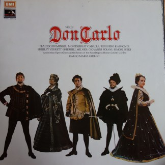 SLS 956 Verdi Don Carlo / Pacido Domingo etc. / Giulini 4 LP box set