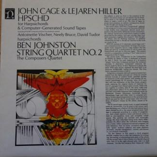 H-71224 John Cage & Lejaren Hiller HPSCHD / Johnston String Quartet No. 2