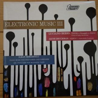 TV 34177S Electronic Music III Berio, Druckman, Mimaroglu
