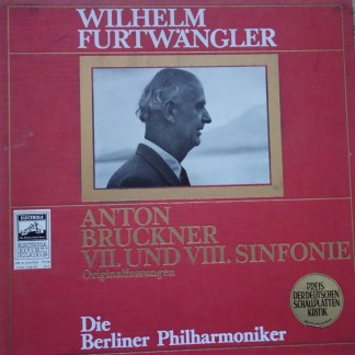STE 91375-8 Bruckner Symphony No. 7 & 8 / Furtwangler 4 LP box