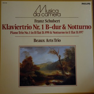 6503 069 Schubert Piano Trio No. 1 / Notturno / Beaux Arts Trio