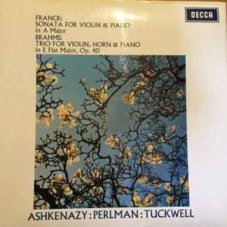 SXL 6408 Franck Violin Sonata / Brahms Trio / Perlman / Ashkenazy / Tuckwell