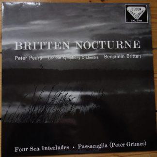 SXL 2189 Britten Nocturn / Pears / Britten / LSO 180 gram