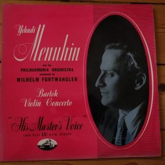 ALP 1121 Bartok Violin Concerto / Menuhin / Furtwangler