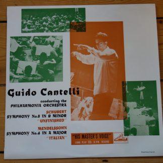ALP 1325 Schubert Symphony No. 8 / Mendelssohn Symphony No. 4 / Cantelli