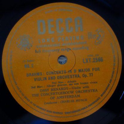 LXT 2566 Brahms Violin Concerto / Ossy Renardy / Munch O/G