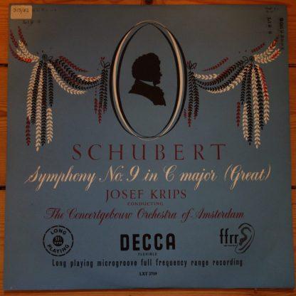 LXT 2719 Schubert Symphony No.9 / Krips / Concertgebouw Orchestra