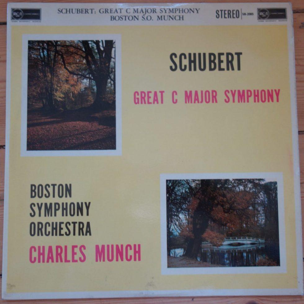 SB 2085 Schubert Great C Major Symphony / Munch / BSO R/S