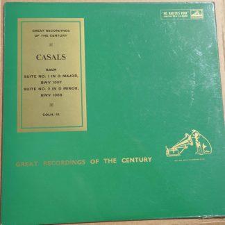 COLH 16 Bach Cellom Suites 1 and 2 / Pablo Casals