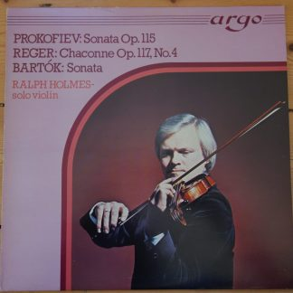 ZK 36 Prokofiev / Reger / Bartok Works for Solo Violin / Ralph Holmes