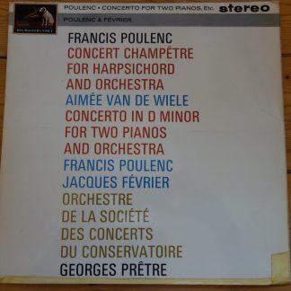 ASD 517 Poulenc Concerto for 2 Pianos etc. / Pretre etc. W/G