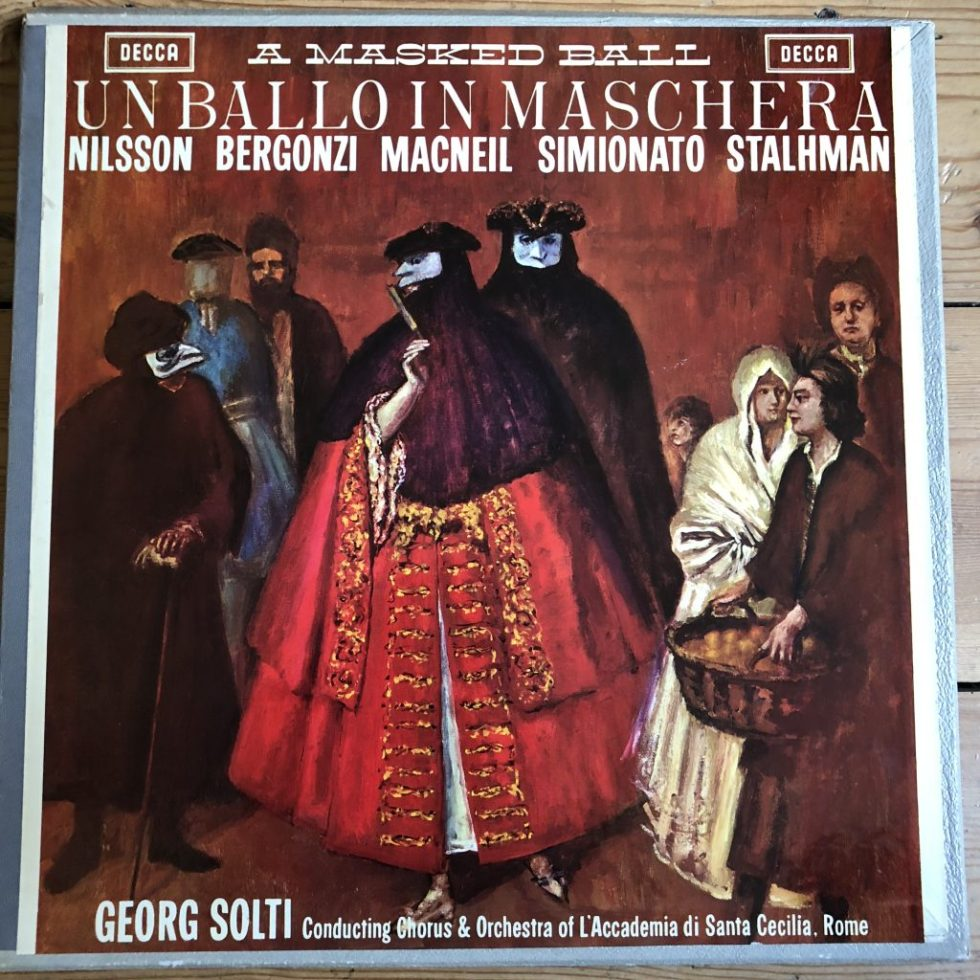 SET 215-7 Verdi Un Ballo in Maschera / Nilsson / Solti etc. W/B 3 LP box