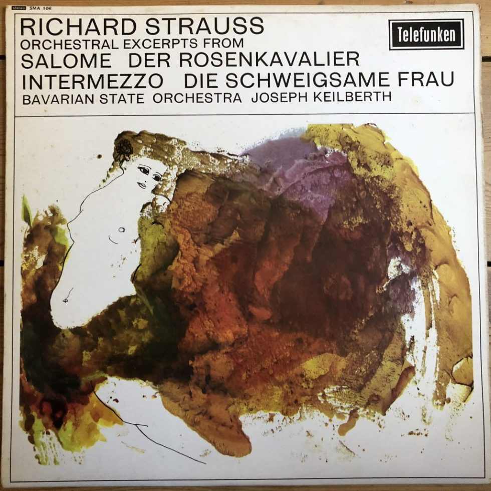 SMA 106 Strauss Orchestral Excerpts / Keilberth GROOVED R/S